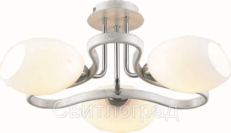 Люстра с Плафонами   Светильник Потолочный Altalusse INL-9210C-03 Chrome & White