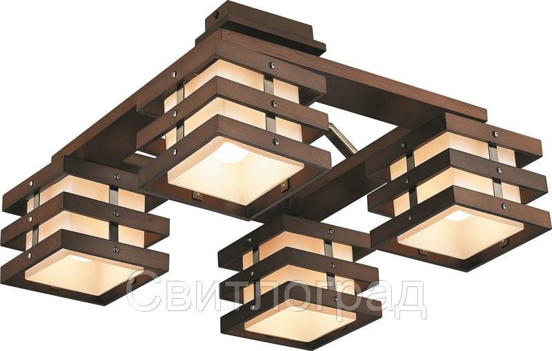 Светильник Потолочный Деревянный    Altalusse INL-9215C-04 Walnut