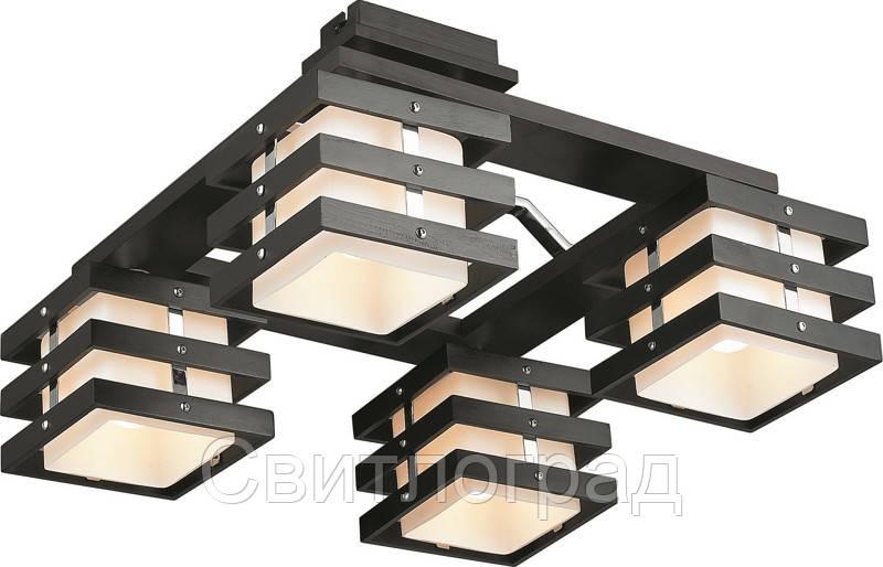 Светильник Потолочный Деревянный    Altalusse INL-9215C-04 Chrome & Dark Wenge