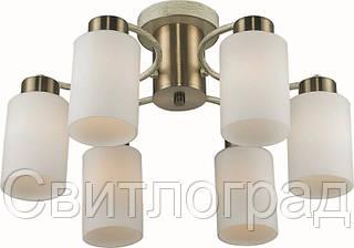 Люстра с Плафонами Светильник Потолочный Altalusse INL-9270C-06 Antique Brass & Beige