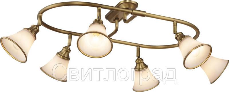 Люстра с Плафонами   Светильник Потолочный Altalusse INL-9286C-06 Golden Brass