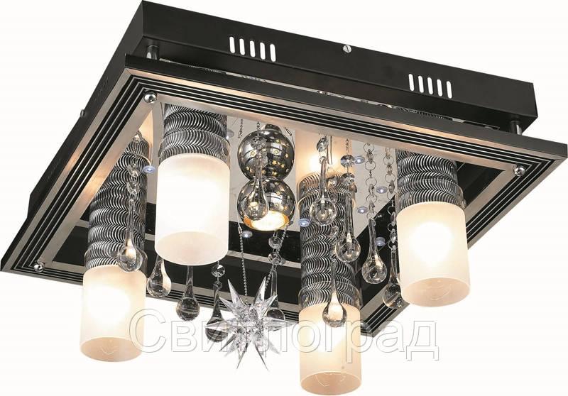 Светильник Потолочный с Led Подсветкой  с Плафонами  Altalusse LV158-05 Aluminium