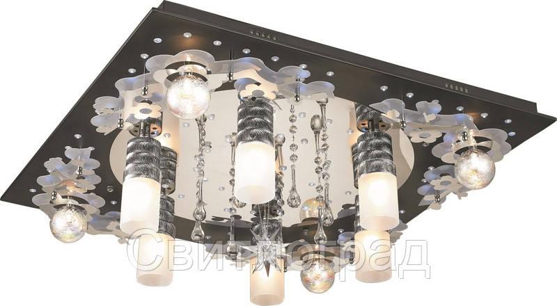 Светильник Потолочный с Led Подсветкой  с Плафонами  Altalusse LV170-11 Aluminium