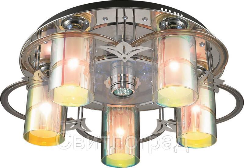 Светильник Потолочный с Led Подсветкой  с Плафонами  Altalusse LV172-06 Aluminium
