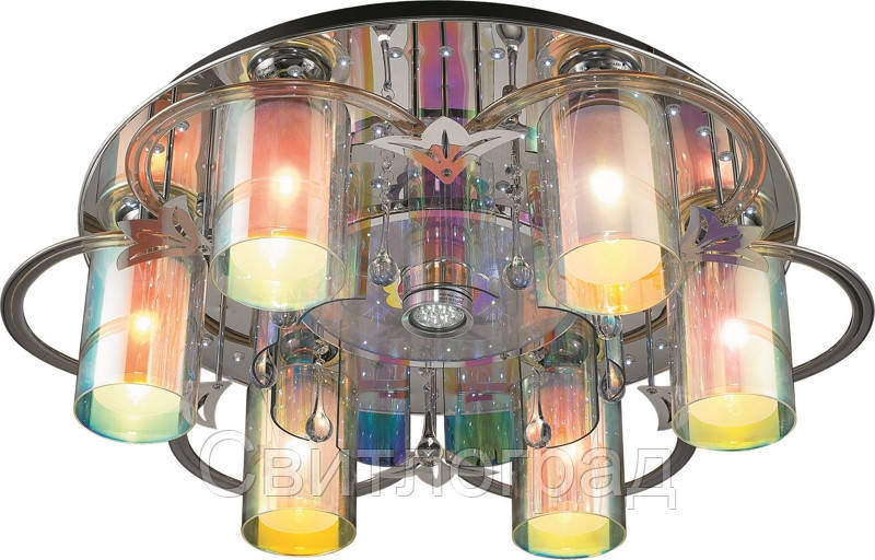 Светильник Потолочный с Led Подсветкой  с Плафонами  Altalusse LV172-07 Aluminium