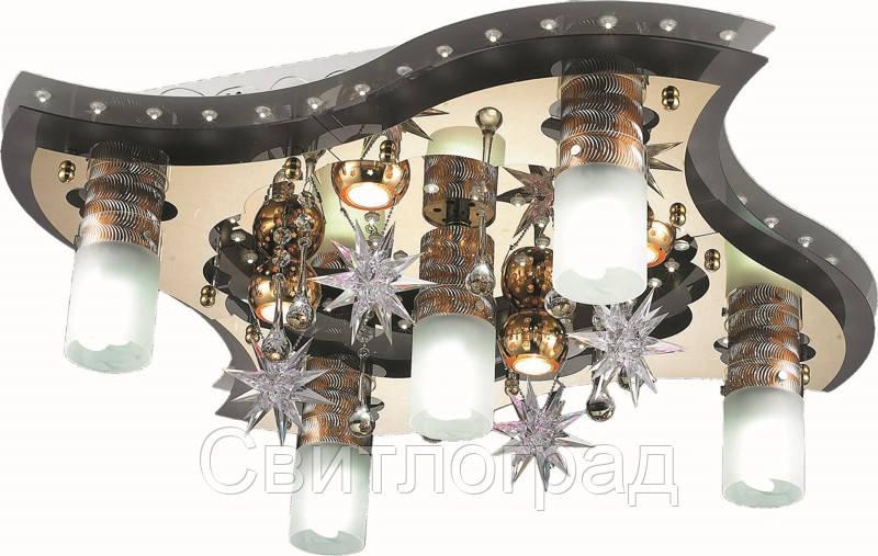 Светильник Потолочный с Led Подсветкой  с Плафонами  Altalusse LV202-09 White & Gold