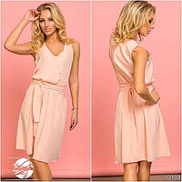 Женское платье нежно-розового цвета из новой коллекции весна-лето 2017. Модель 13103.