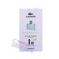 Подарочный мужской набор духов Lacoste essential 45 мл