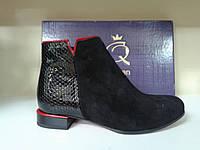 Элегантные демисезонные полуботинки  Red Queen 9712 чёрные., фото 1