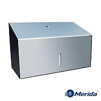 Диспенсер для бумажных полотенец из полированной нержавейки 250 шт. Merida Stella Mini, Польша