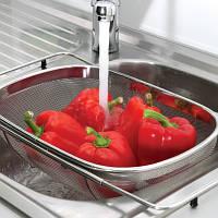 Дуршлаг для кухонной раковины, 34 х 24 х 11 см