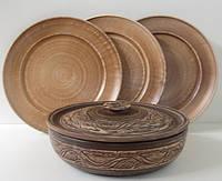 Набор Сковорода Етно (d-22см)+3 тарелки (d-25см)
