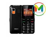Кнопочный мобильный телефон-бабушкофон Prestigio Wize E1, 2 сим, большие кнопки, крупный шрифт, SOS
