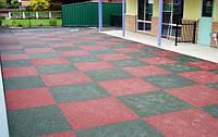 Резиновая полиуретановая уличная плитка (1000 на 1000 мм)