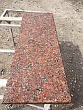 Красный подоконник из гранита, фото 4