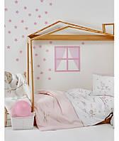 Детский набор в кроватку для младенцев Karaca Home Sweet Bird розовый (10 предметов)