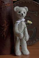 Мишка тедди (светло-серый) из шерсти