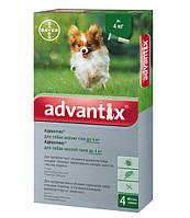 Advantix для собак вес до 4 кг 1 пипетка 0,4мл Bayer