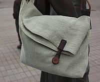 Эко сумка с кожаной фурнитурой