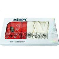 Набор Anemon kadife 2 халата + 4 полотенца