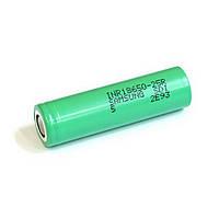Высокотоковый аккумулятор для электронных сигарет. Оригинал Samsung INR18650-25R 2500mah (green, до 30А)
