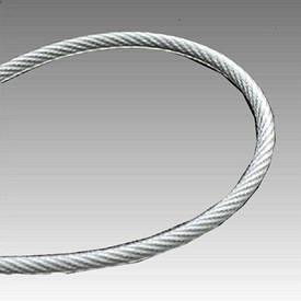 Трос в полиэт. оплетке 5 мм (4+1) DIN 3055 (6*7) оц. бухта 100 м new