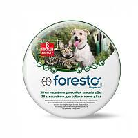 Ошейник Форесто 38см на 8 месяцев от блох и клещей, для собак и кошек Foresto Bayer Байер