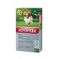 Капли для веса до 4кг от блох, клещей, комаров для щенков и собак Адвантикс Байер Advantix Bayer