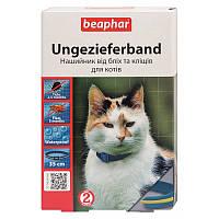 Ошейник от блох и клещей 35 см, 6 месяцев, для кошек, сине-желтый, Беафар