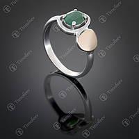 Серебряное кольцо с агатом. Артикул П-399