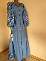 """Вишита дизайнерська сукня з орнаментом """"Павлиний хвіст"""", фото 1"""