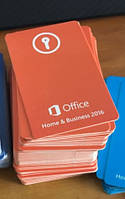 Microsoft Office для дома и бизнеса 2016 ключ - картка