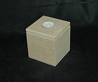 Заготовка для декупажа. Короб для сыпучего (Чайная свеча) 10х10х11(см)