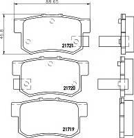 Тормозные колодки HONDA ACCORD (CG, CH) 02/1998-03/2003 дисковые задние, Q-TOP (Испания) QE0905E