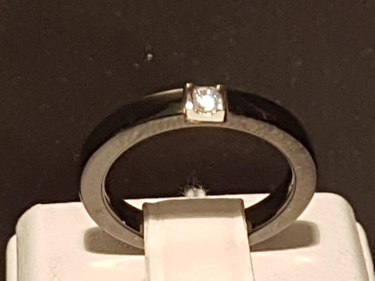 Серебряное кольцо с керамикой и фианитами. Артикул К2ФК/1008 17,1