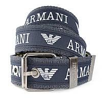 Мужской текстильный ремень ARMANI с металлической пряжкой (30111)