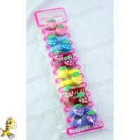 Резинка детская клубничка - цена за 1 пару одного цвета