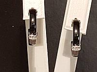 Серебряные серьги с керамикой. Артикул С2ФК/1006, фото 1