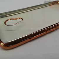 Чехол силиконовый с окантовкой для Meizu M3s/M3/M3 mini (красное золото)