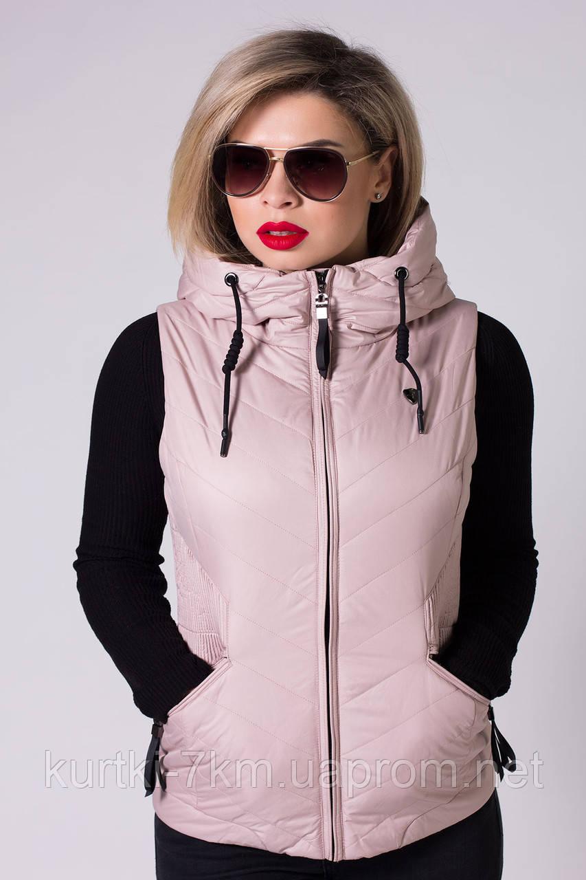 Жилетка  женская короткая №6086 - Женские куртки, пуховики - Куртки 7км в Одессе