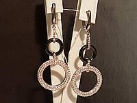 Серебряные серьги с керамикой. Артикул С2ФК/1013, фото 1