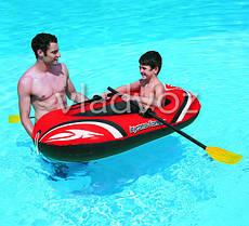 Лодка пвх надувная с веслами одноместная 61078, фото 3