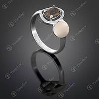 Серебряное кольцо с раухтопазом. Артикул П-399