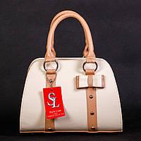 Медовая каркасная женская сумка-бочонок art. 1339honey