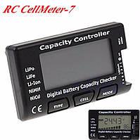 Тестер CellMeter-7 для измерения напряжения и заряда батарей типа: LiPo, LiFe, литий-ионный, NiMH, NiCd., фото 1