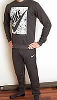 Мужской спортивный костюм серый 3085