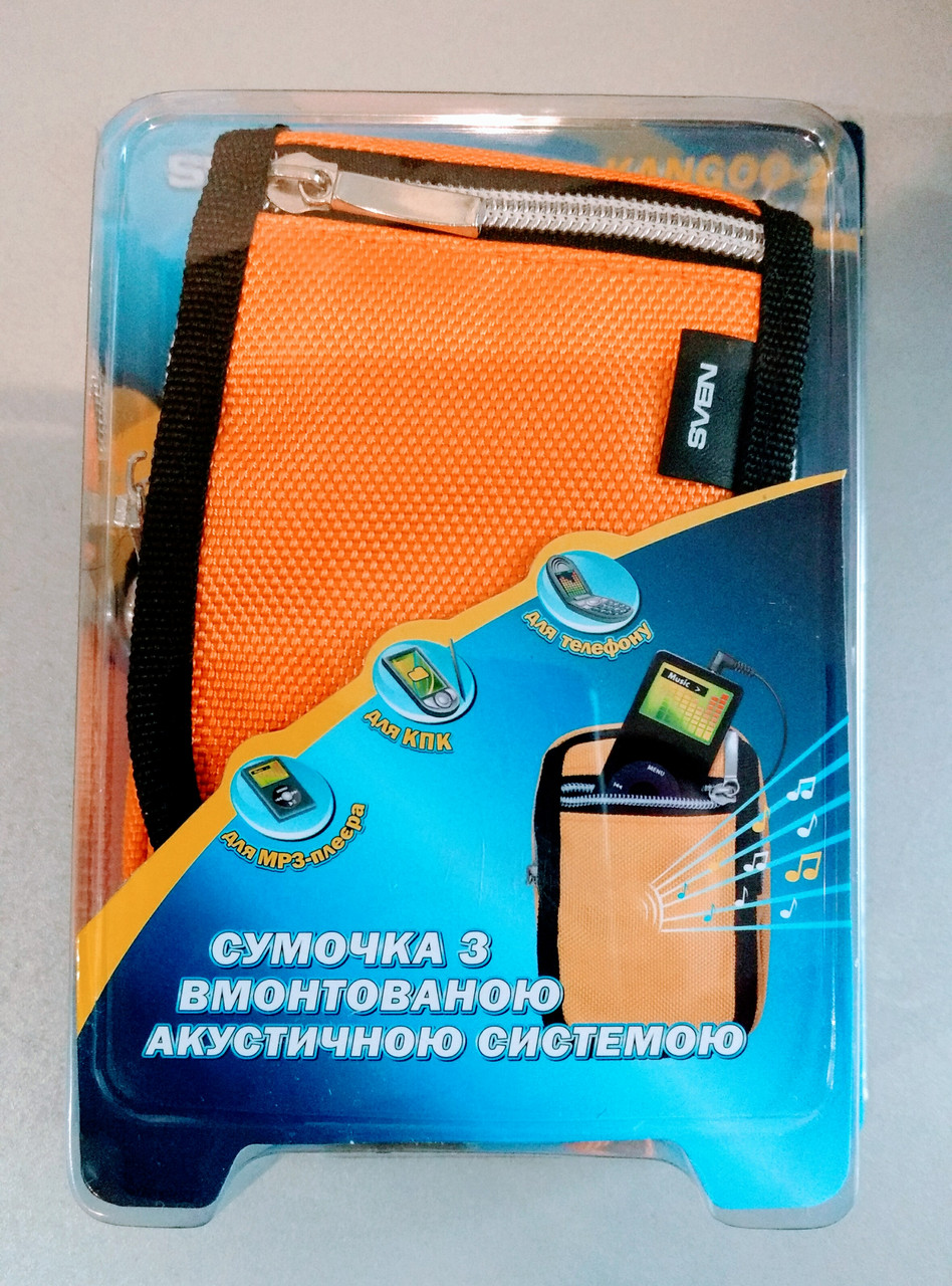 Портативные колонки SVEN Kangoo-2 (желтый) в защитной сумочке, 2хАА, кабель mini-jack 3.5, 2W