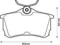 Тормозные колодки HONDA ACCORD (CL_, CM_, CN_) 02/2003-03/2008 (LUCAS/TRW) диск. зад., Q-TOP (Испания) QE0911E