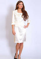 Женский  костюм Скарлетт нарядный, классический  размеров 50  белого цвета