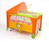 Детская кровать манеж Milly Mally Mirage Delux teddy Польша